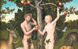 eve giving adam the apple 300x187 Christianity and Women